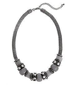Erica Lyons Hematite Short Slide Necklace