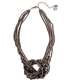 Erica Lyons Hematite Short Knot Necklace