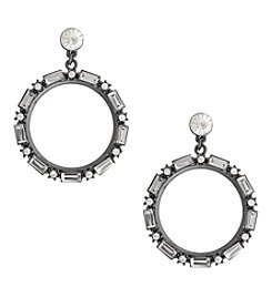 Erica Lyons Hematite Hoop Drop Earrings