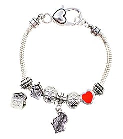 L&J Accessories I Heart Wisconsin Charm Bracelet