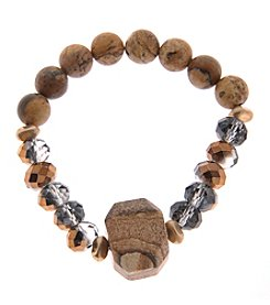 L&J Accessories Stone and Glass Bead Bracelet