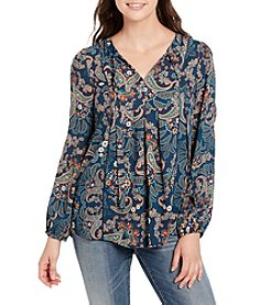 Vintage America Blues Printed Tunic Top