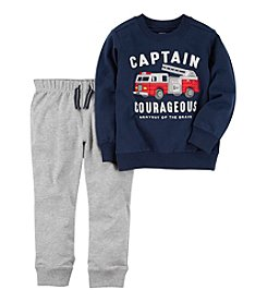 Carter's Boys' 2T-5T 2 Piece Long Sleeve Tee And Sweatpants Set