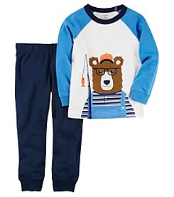 Carter's Boys' 2T-5T Long Sleeve Bear Tee And Sweatpants Set