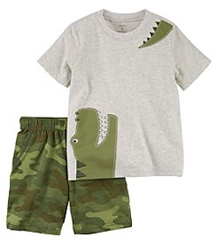 Carter's Boys' 2T-5T Short Sleeve Dino Tee And Shorts Set