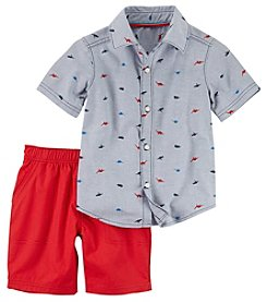 Carter's Boys' 2T-5T Short Sleeve Dino Shirt And Shorts Set