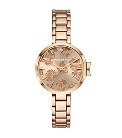kate spade new york Women's Rose Goldtone Roses Park Row Watch