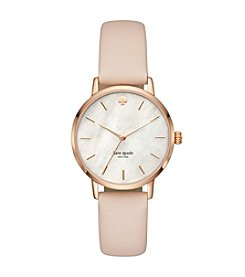 kate spade new york Vachetta Leather Metro Watch