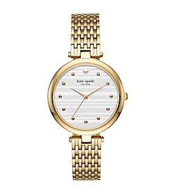 kate spade new york Women's Goldtone Varick Watch