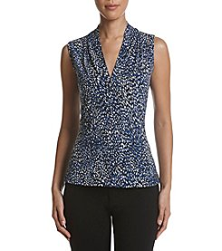 Calvin Klein Abstract Print V-Neck Cami Top