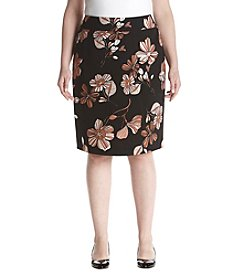 Nine West Plus Size Floral Print Skirt