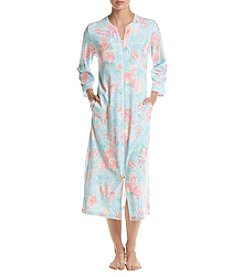 Miss Elaine Floral Pattern Long Robe