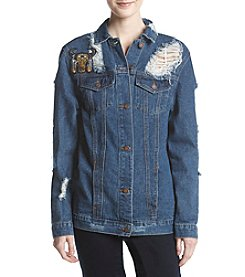 Boom Boom Dream Navajo Patch Denim Jacket