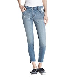 Celebrity Pink Frayed Hem Ankle Jeans