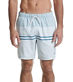 Nautica Men's Engineer Stripe Swim Trunks