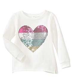 Carter's Girls' 2T-4T Long Sleeve Heart Fleece Sweatshirt