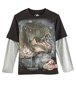 Jurassic Park Boys' 8-20 Long Sleeve T-Rex Top