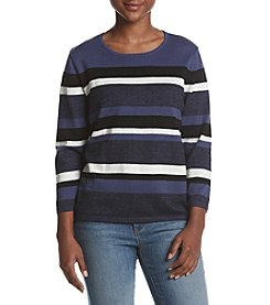 Alfred Dunner Petites' Classic Stripe Sweater