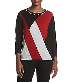 Alfred Dunner Petites' Classic Colorblock Sweater