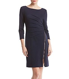 Ivanka Trump Zip Front Sheath Dress