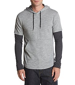 DVISION Men's Long Sleeve Hooded Knit Shirt