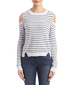 Lucky Brand Striped Cold Shoulder Pullover
