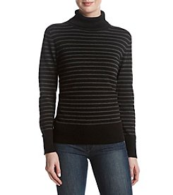 Cupio Vertical Striped Button Detail Sweater