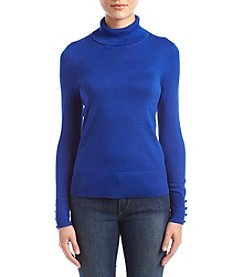 Cupio Turtleneck Button Cuff Sweater