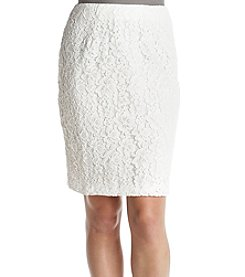 Adiva Lace Pencil Skirt
