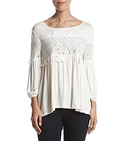 Adiva Crochet Lace Detail Top
