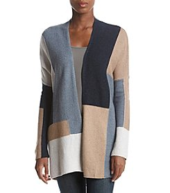 Lucky Brand Colorblock Open Front Cardigan