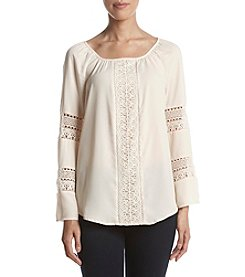 Adiva Lace Detail Peasant Top