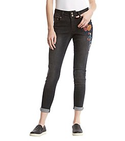 One 5 One Embroidered Floral Jeans