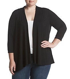 Studio Works Plus Size Open Front Cardigan