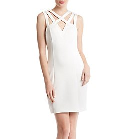 Guess Cutout Neck Scuba Sheath Dress