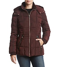 GUESS Down Jacket With Faux Leather