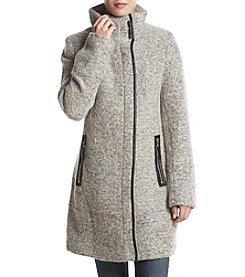 Calvin Klein Asymmetric Zip Stand Collar Coat