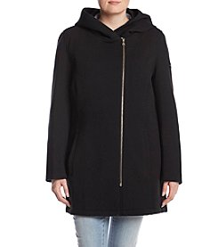 Calvin Klein Asymmetric Zip Hooded Jacket