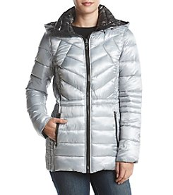 GUESS Reversible Quilted Down Coat