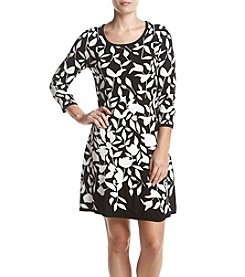 Nine West® Fit And Flare Floral Print Dress