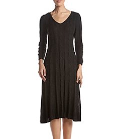 Nine West® Fit & Flare Cable Dress