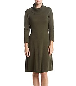 Nine West Turtleneck A-Line Silhouette Dress