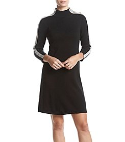 Nine West® Button Detail A-Line Sweater Dress