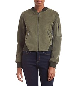 Kenneth Cole Suede Bomber Jacket