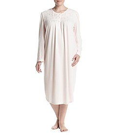 Miss Elaine Plus Size Long Sleeve Sleep Gown