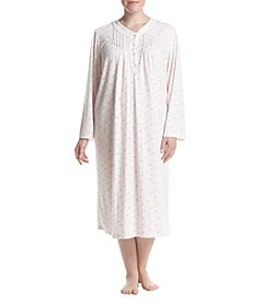 Miss Elaine Plus Size Printed Sleep Gown