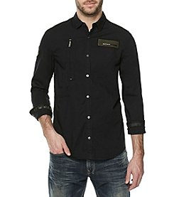 Buffalo David Bitton Sarkiz Military Woven Shirt