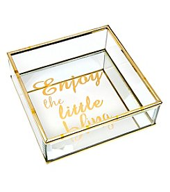 Philip Whitney Enjoy Bling Square Mirror Tray