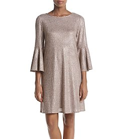 AGB Glitter Detail Bell Sleeve Dress