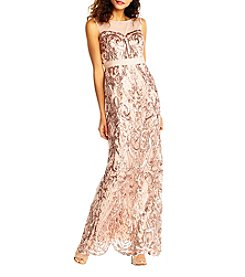 Adrianna Papell Sequin Mermaid Dress
